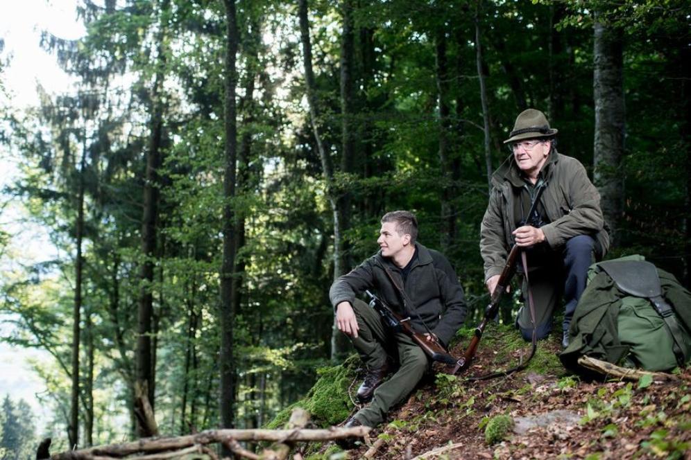 Roger und Seppi Kalberer auf der Jagd Wild Spezialitäten Liechtenstein Ostschweiz Heidiland