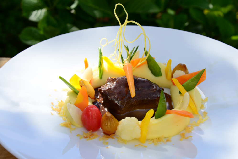 Seppi Kalberer Kalbsbacke Restaurant Schlüssel Mels Gourmet Küche